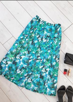 Изумительная юбка миди из легкого  хлопка