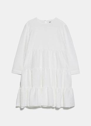 Платье с рельефным узором zara