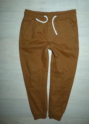 Котоновые штаны, джоггеры на подкладке m&s 6-7 лет