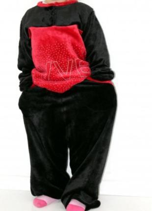 Пижама детская из велсофт махры красная