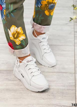 ❤ женские белые кожаные кроссовки ❤