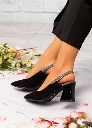 ❤ женские черные замшевые туфли ❤