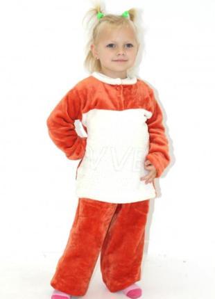 Пижама детская из велсофт махры оранжевая