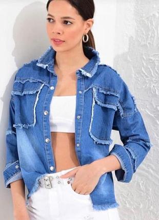🌺🌸🍃* •. ¸рубашка джинсовая* •. ¸🍃🌸🌺