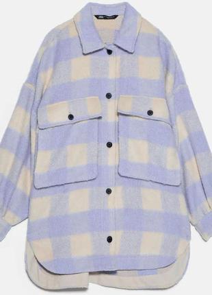 Куртка /рубашка в стиле oversize в клетку zara