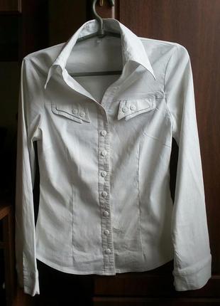 Белая рубашка на девочку