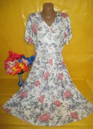 Очень красивое женское платье в цветы  hamells грудь 51см  рр ...