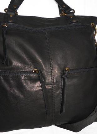 Шик ! большая сумка из натуральной кожи новая
