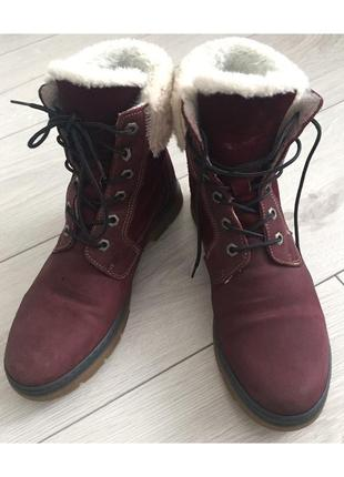 Ботинки, чобітки, бордовые ботинки.