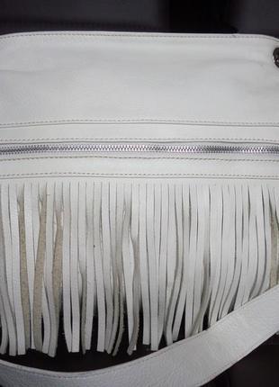 Стильная сумка на лето из натуральной кожи италия apex