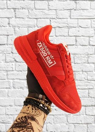 Мужские стильные кроссовки adidas zx 500 red.
