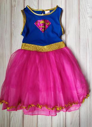 Платье супердевушка 9-10 л