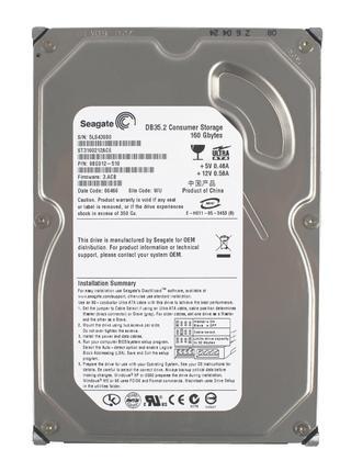 """Жесткий диск для стационарного ПК 3,5"""" HDD 160Gb тесты прикрепляю"""