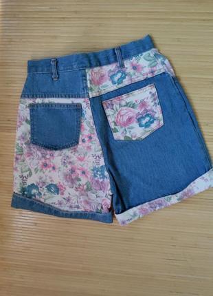 Американские джинсовые шорты с манжетами цветочный принт arizona