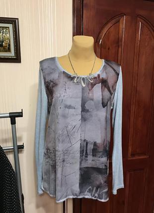 Милая блуза в сиреневых тонах