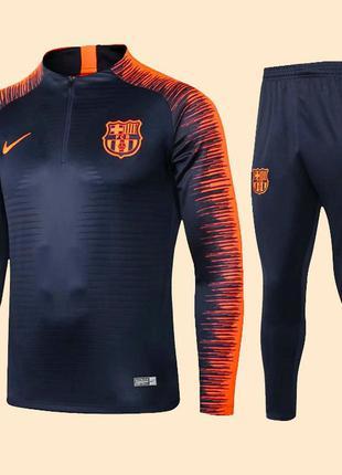 Футбольный костюм для детей барселона nike orange (2658)