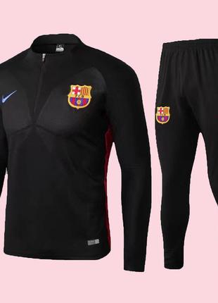 Футбольный костюм для детей барселона nike black (2508)