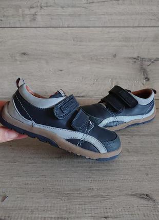 Туфли мокасины start-rite 25-26р  кожа на липучках