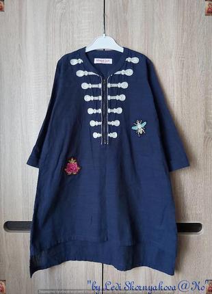 Новая туника/летнее платье со 100 % хлопка с вышивками и удлин...