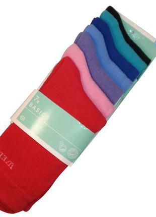 Набор носков неделька 7 пар носки био хлопок для девочки c&a г...