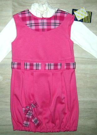 Нарядный сарафан и гольф костюм для девочки размер 104-110