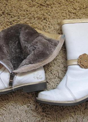 Сапоги зимние кожаные на овчине для девочки размер 28 стелька ...