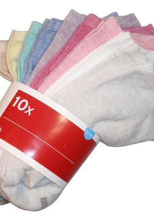 Короткие носки набор 10 пар хлопковые для девочки бренд c&a ге...
