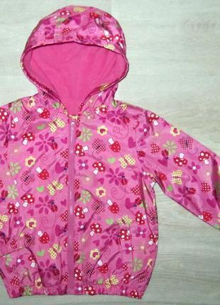 Детская куртка ветровка на флисовой подкладке размер 98 полном...