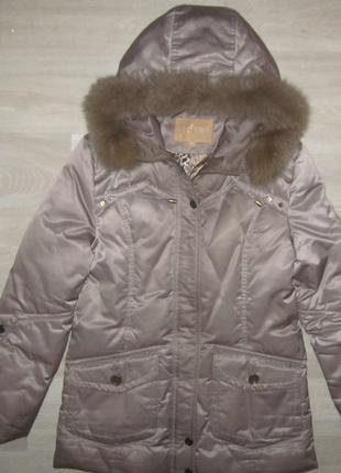 Зимний женский пуховик зимняя куртка размер xl 90% пух, 10% перо