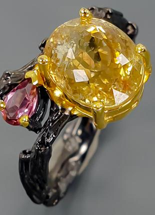 Кольцо СЕРЕБРО 925 Натуральный турмалин