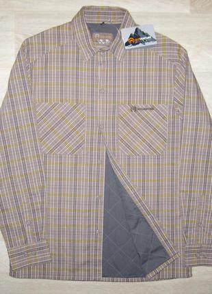 Рубашка ветровка мужская на подкладке и утеплителе новая качес...