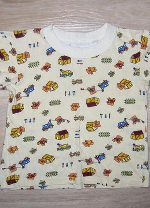 Хлопковая летняя футболка для девочки размер 104-110