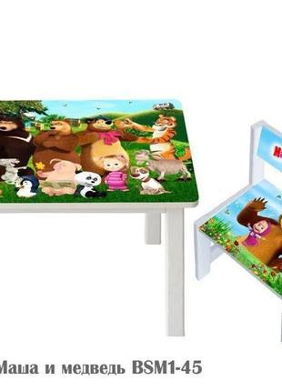 Набор детской деревянной мебели Столик и стул, стол и стул дерево