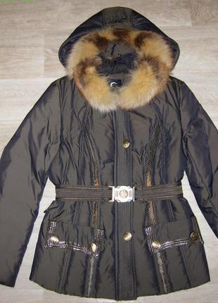 Зимний женский пуховик зимняя куртка размер xl 70% пух, 30% перо