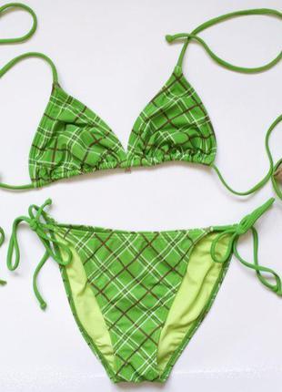 Зелёный купальник, раздельный купальник, салатовий, зелений ро...