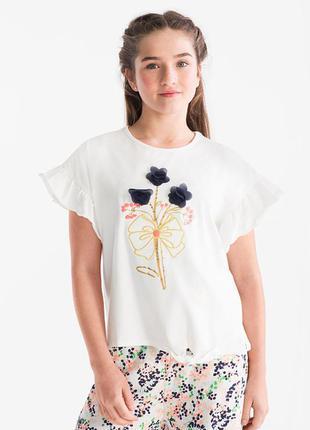 Интересная футболка на девочку smart&pretty от c&a (испания)