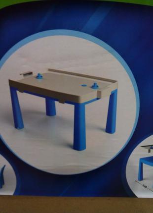Детский столик + комплект для игры в аэрохоккей Doloni