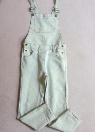 Полосатый джинсовый комбинезон унисекс