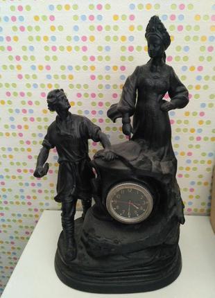 Часы каминные чугунные касли хозяйка медной горы