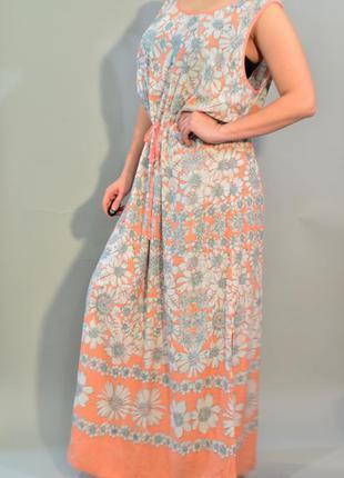4279\70 светлое летнее платье m&s xxxxl