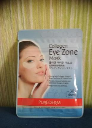 Коллагеновые патчи под глаза, 30 шт purederm collagen eye zone...