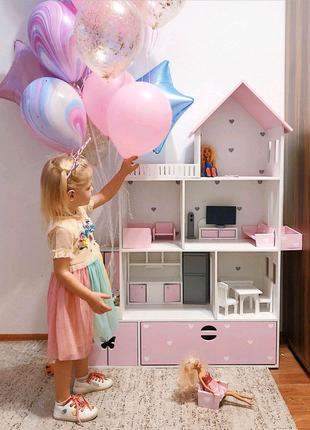 Кукольный домик с мебелью, домик для кукол барби, детский домик