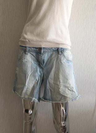 Шорты джинсовые короткие рваные true jeans