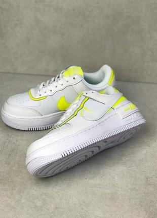 Nike Air force shadow pastel бело кислотний