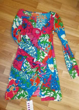 Красивое 💕яркое летнее платье 44-46