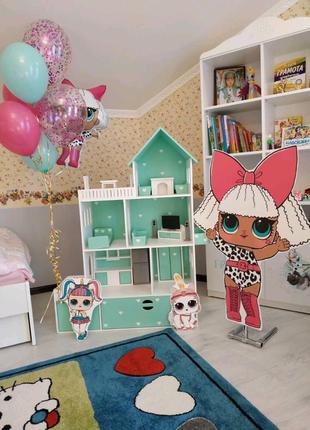 Кукольный домик с мебелью, домик для кукол барби с мебелью