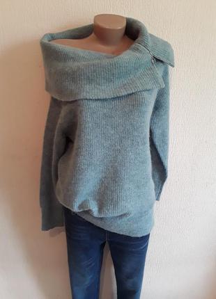Теплый свитер с альпакой