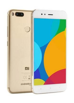 Новый Xiaomi Mi A1 4/32gb Gold Global 4g 12+12/5мп оптический зум