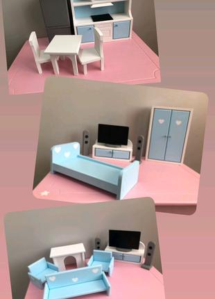 Мебель для кукольного домика, мебель для барби