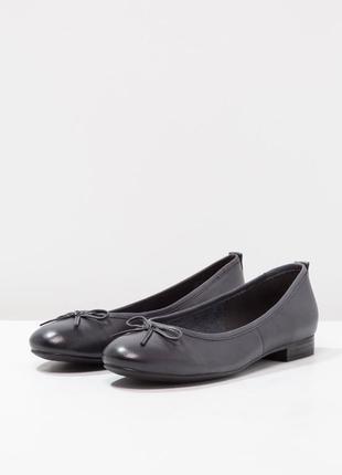 Tamaris кожаные туфли балетки